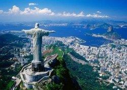 Corcovado und Christusstatue, Rio de Janeiro, Brasilien - fototapeta