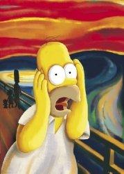 The Simpsons - Krzyk Munch - Simpsonowie - plakat