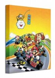 Super Mario Kart (Retro) - Obraz na płótnie