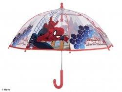 Parasol manualny Spiderman transparentny