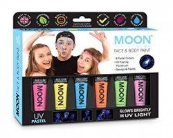 Zestaw farb do twarzy i ciała NEON UV Pastelowe