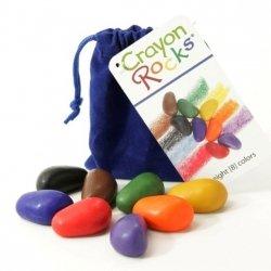 Kredki kamyki Crayon Rocks w aksamitnym woreczku 8szt