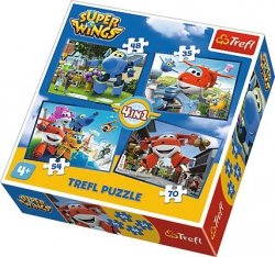 TREFL 34280 PUZZLE 4w1 SUPER WINGS ODLOTOWA PACZKA