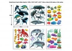 Zestaw naklejek Morze - Delfiny