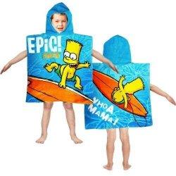 Ponczo Ręcznik z kapturem The Simpsons Bart na desce