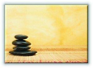 Gorący kamień Spa - Obraz na płótnie