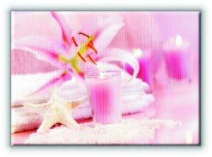 Różowe Spa - Obraz na płótnie