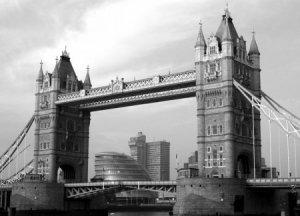 Londyn, Tower Bridge - fototapeta