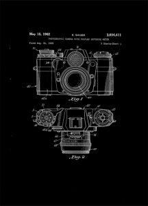 Aparat Fotograficzny Projekt 1962 - retro plakat