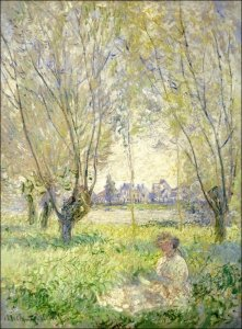 Woman Seated under the Willows, Claude Monet - plakat