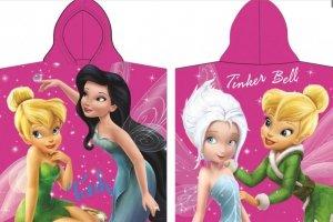 Ponczo Ręcznik z kapturem Disney Fairies Wróżki Dzwoneczek