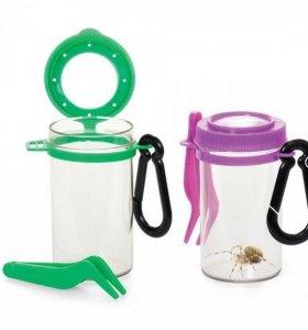 Pojemnik ze szkłem na owady