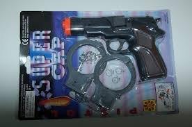 Pistolet NA SPŁONKĘ kapiszony 8-ki +kajdanki