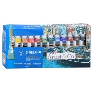 Farby akrylowe 12x12ml Artist