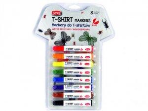Markery Mazaki do tkanin T-shirt 8 kolorów