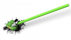 Lampka nocna Miecz Świetlny YODA SABER Star Wars 3D Deco Light Gwiezdne Wojny