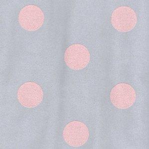 Tapeta szara w różowe grochy 13540-40