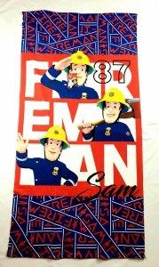 Ręcznik kąpielowy Fireman Sam Strażak Sam 68x137cm