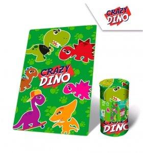 Pled Koc Kocyk Crazy Dino Dinozaury 100x150cm