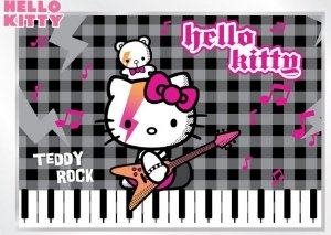 Fototapeta na flizelinie Hello Kitty Teddy Rock L