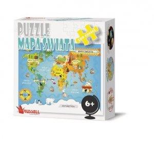 Puzzle edukacyjne Mapa Świata World Map