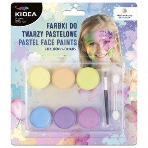 Farby do malowania twarzy i ciała Pastelowe