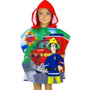 Ponczo Ręcznik z kapturem Fireman Sam