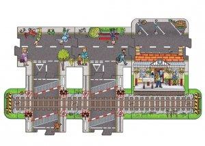 Duże puzzle Stacja Kolejowa