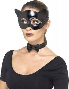 Maska kota z muszką