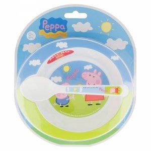Zestaw miska i łyżka Świnka Peppa Pig