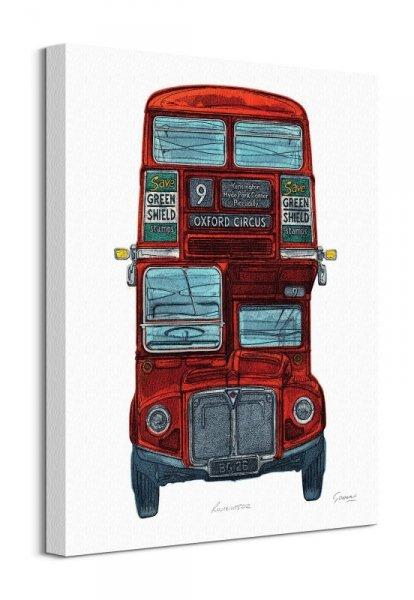 Angielski autobus - obraz na płótnie