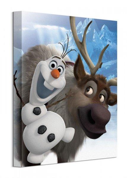 Kraina Lodu Olaf i Sven - obraz na płótnie