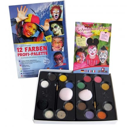 Zestaw farb do malowania twarzy z książką inspiracji Eulenspiegel