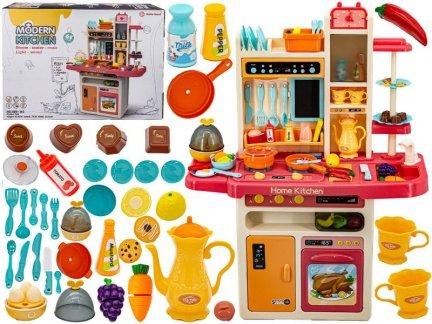 Multifunkcyjna Różowa Kuchnia Z Piekarnikiem, Lodówką I Płytą Gazową