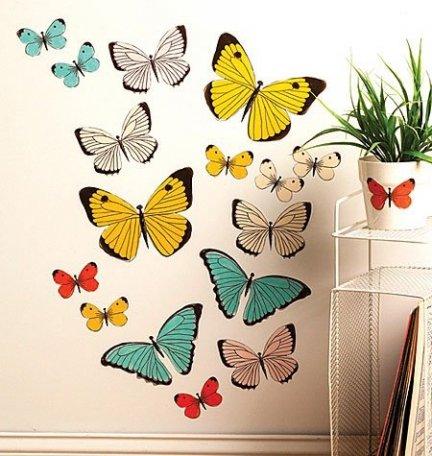 Naklejki duże pastelowe motyle