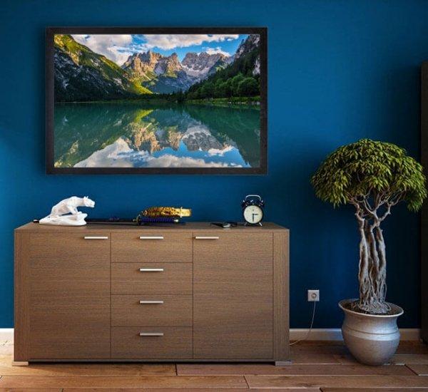 Lago Landro, Dolomity - plakat premium