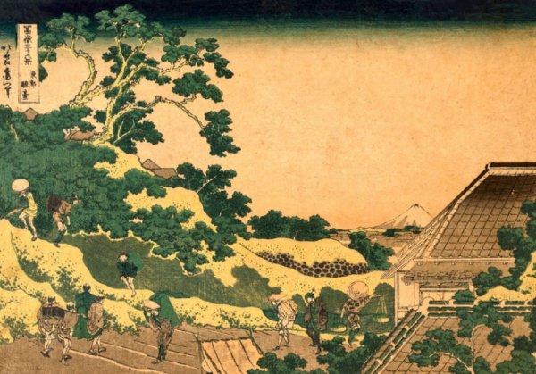 Hokusai, Fuji from Surugadai, in Yedo - plakat