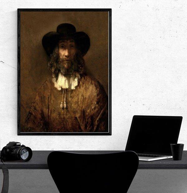 Man with a Beard, Rembrandt - plakat