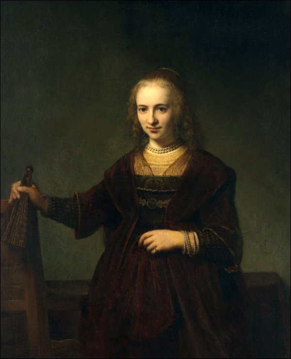 Portrait of a woman III, Rembrandt - plakat