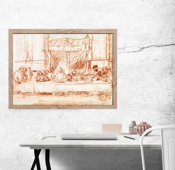 The Last Supper, after Leonardo da Vinci, Rembrandt - plakat