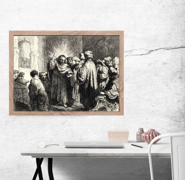 The Tribute Money, Rembrandt - plakat