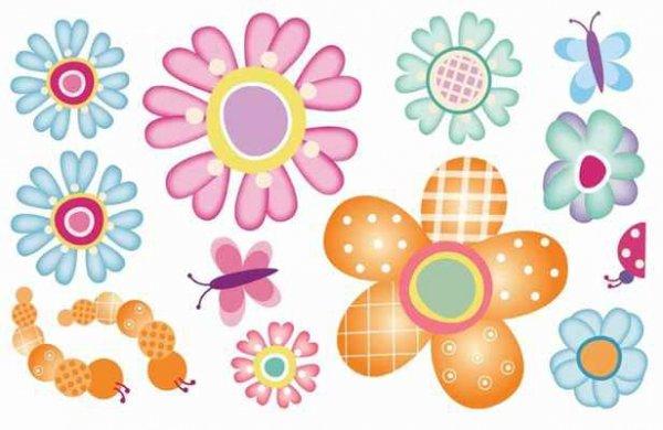 Naklejki Kwiatki Zabawny Ogród