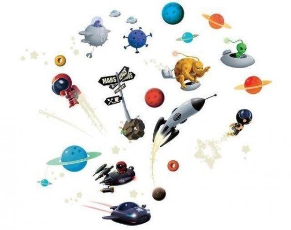 Naklejki Djeco Kosmos Rakieta