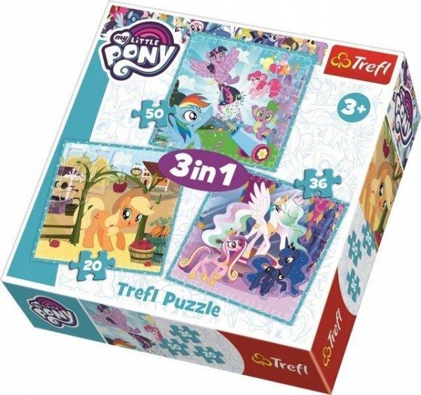 Puzzle 3w1 Radosne dni kucyków My Little Pony 34843 Trefl