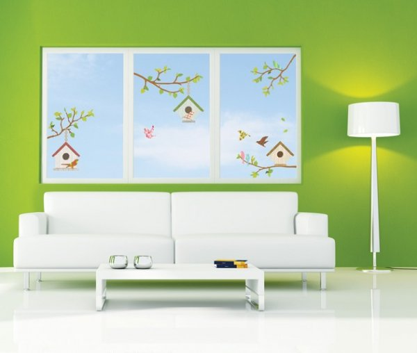 Ptaszki, karmniki i gałązki