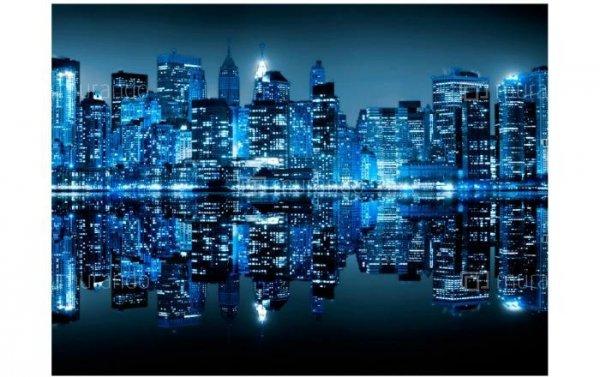 Fototapeta Miasto Nocą Nowy Jork indygo