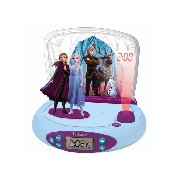 Budzik zegar z alarmem i projektorem Kraina Lodu Disney Frozen figurki 3D