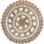 Okrągły dywan z juty wzór 3
