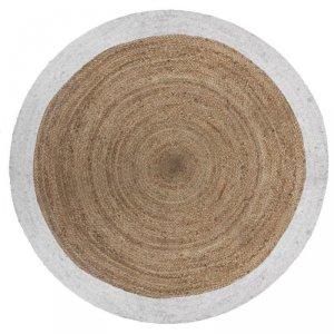 Okrągły dywan z juty brązowy