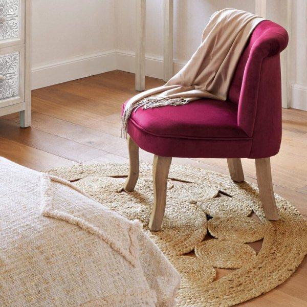 Okrągły dywan z juty wzór 5